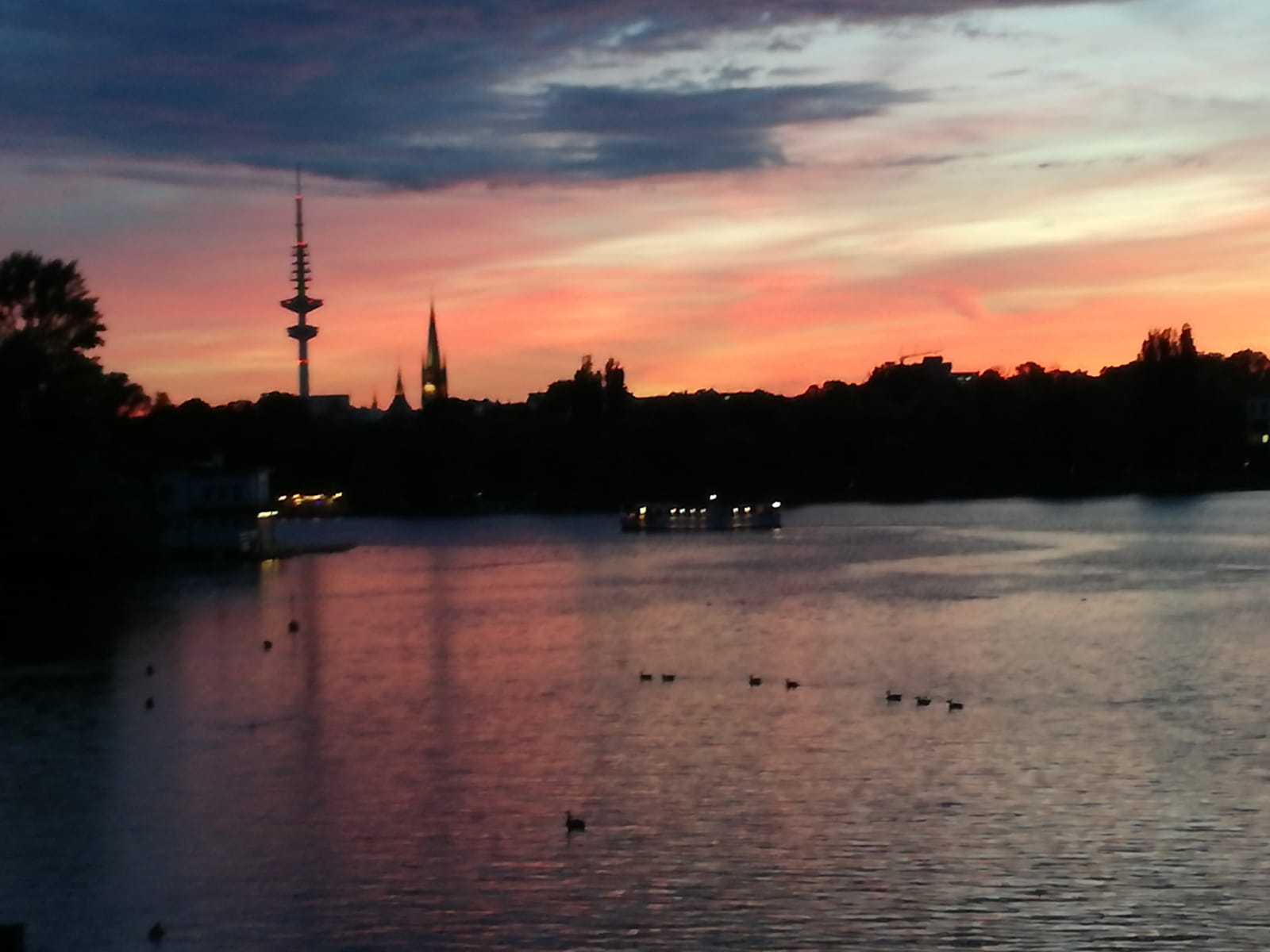 Alster Sonnenuntergang